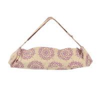 Fitness Mad Mandala Yoga Mat Bag Cotton Jute Adjustable Pilates Class Carry Bag