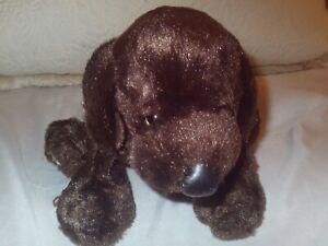 "HM138 Ganz Webkinz Chocolate Lab Dog 9"" Plush Stuffed Animal No Code Brown Puppy"