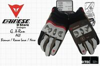 NEW DAINESE GUANTO X-RUN MOTORCYCLE GLOVES BIANCO ROSSO LAVA NERO - SIZE S