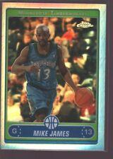 Mike James 2006-07 Topps Chrome Refractor Ref Mint Sp Raptors Wolves Heat
