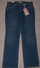 LEVI'S Blue Denim 505 Straight Leg Mid-Rise Jeans Size 10 Short NWT