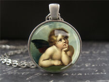 Guardian Angel Necklace Michelangelo Cherub Art Jewelry Gifts for Loved Ones