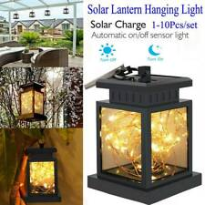 High Quality Solar Powered Lantern Hanging Light Outdoor Garden LED Candle Lamp