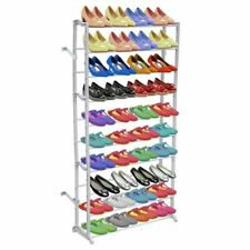 vidaXL 10 Tier Shoe Rack Shelf 40 Pairs Light Weight Portable Organizer Stand