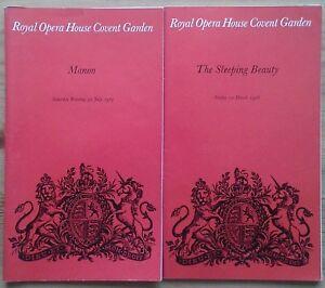 Individual The Royal Ballet programmes 1970s, Royal Opera House programme
