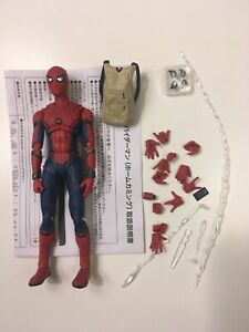 "Bandai SHF S.H. Figuarts Homecoming Spider-Man 6"" Loose Action Figure MCU"