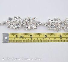 Crystal Rhinestone Trim  - Rhinestone Banding- Cupchain -Bridal Trim by the yard