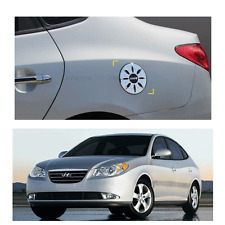 Chrome Cap Fuel Gas Cover Molding Emblem for HYUNDAI Elantra 2007-2010