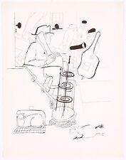 David Stone Martin Instrument Jazz Musicians Lithograph Bass Player