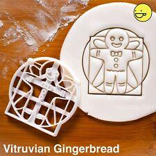 Vitruvian Man Gingerbread cookie cutter | Christmas Halloween biscuit Da Vinci