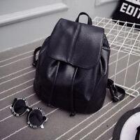 Womens PU Leather Backpack Mini Back Pack Travel Shoulder School Bag Rucksack