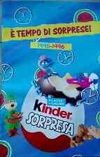 "RARISSIMO CATALOGO SORPRESINE KINDER ""E' tempo di sorprese"" 1995-1996"