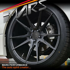 MARS MP-RH Black 4x 19 Inch Concave Stag Wheels Rims 5x114.3 Falcon Mustang