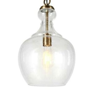 Meyer Cross Westford Brass and Seeded Glass Pendant PD0270