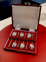 Sterling Solid Silver Teaspoons X6 British Hallmarked 1967, 45 Grams