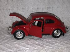 MAISTO 1/24 Scale 1960 RED VOLKSWAGEN VW BEETLE SPECIAL EDITION DIE CAST CAR