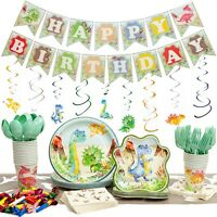 192 Pc - Dinosaur Party Supplies Pack - Serves 20 - Decorations - Favors - Thick