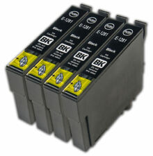 4 x T1281 Black Ink Cartridges For EPSON Inkjet Printers Non OEM High Capacity
