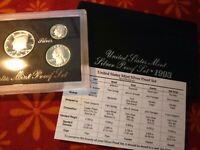 1993 S United States Mint Silver Proof Set w/ OGP & COA