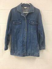 Hunters Run Vintage Denim Jean Jacket Cotton Size Medium USED