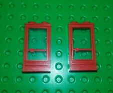 Lego Vintage Red Window 2x3x1 Bricks Blocks House Buildings - 2 pieces