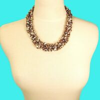 """18"""" Multi Color Braided Collar Choker Style Handmade Seed Bead Necklace"""