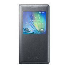 Genuine Samsung S-View Cover Flip Wallet Case For Galaxy A5 (EF-CA500B) - Black