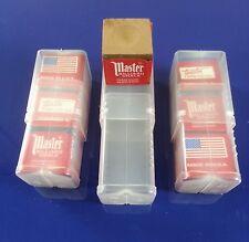 (3) Pieces Of Brown Master Chalk & (1) Billiard & Pool Cue Chalk Holder Case