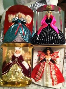 Barbie Dolls Lot  - Christmas  1995-1998 ANY COUNTRY  CHEAP SHIP 40 for 4 dolls