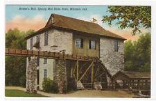 Hamer's Mill Spring Mill Inn  Mitchell Indiana  #2 linen postcard