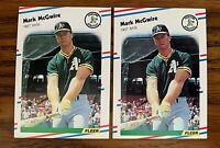 1988 Fleer #286 Mark McGwire - A's NM (2)