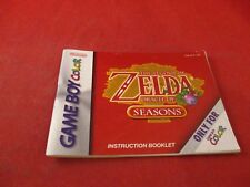 The Legend of Zelda Oracle of Seasons Game Boy Instruction Manual Booklet ONLY