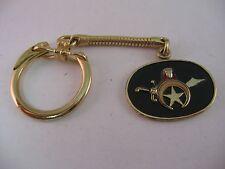 Vintage Free Mason Fraternal Scimitar Star Horns Keychain