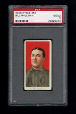 1909 T206 Bill Hallman PSA 2 Kansas City Cycle Back