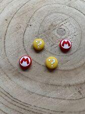 ? Mario Design Joysticks Abdeckung Kappe Schutz Nintendo Switch 4 Stück G/R