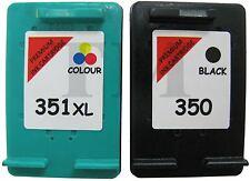 Remanufactured 350 Black & 351XL Colour Ink Cartridge fits HP Photosmart C4580