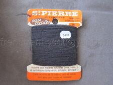 R438 Mercerie ancienne carte fil LAINE SAINT PIERRE N°150 gris 4 fils 70 % Laine