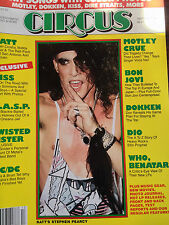 VINTAGE CIRCUS MAGAZINE MINT 1986 LOADEd WITH MOTLEY CRUE, RATT Stephan Pearcy