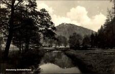 Serrimana montagna selketal resina DDR cartolina 1960 partita andate sul fiume PRATO ALBERI