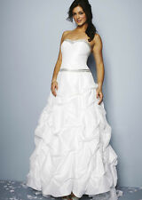 BNWT Ivory Parachute Embellished Wedding Dress NICHOLAS MILLINGTON-UK 12 RRP£499