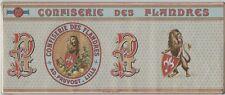 """""""CONFISERIE DES FLANDRES"""" Affiche d'intérieur originale Chromo-litho  39x16cm"""