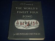 1967 A TREASURY OF THE WORLD'S FINEST FOLK SONG BOOK - REVISED EDITION - KD 1868