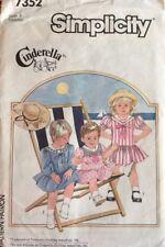 Simplicity Pattern 7352 'Cinderella' Toddler Sailor Collar Dress Size 4 Uncut