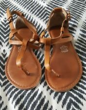 NOVO Boho Tan Brown Strappy Sandals Leather Size 6