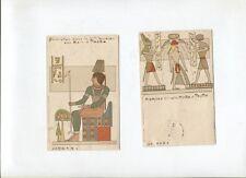 N°9262 /  2 cartes postales EGYPTE iconographie