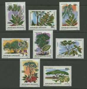 RWANDA, SC 915-22, 1979 Important Trees issue, Complete set of 8. MNH.