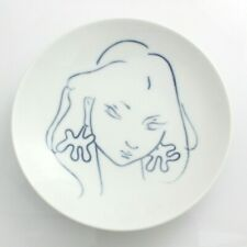 Denmark Royal Copenhagen Porcelain Portrait Dish Johannes Hedegaard 1960s