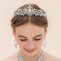 Elegant Bridal Rhinestone Crystal Flower Crown Hair Clip Hair Comb Accessories