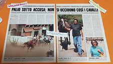 CLIPPING CUTTING ARTICOLO PALIO DI SIENA, ACETO RARO ANNI 90