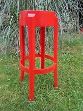 Tabouret Kartell  Starck Charles Ghost   Rouge Opaque Hauteur 65 cm